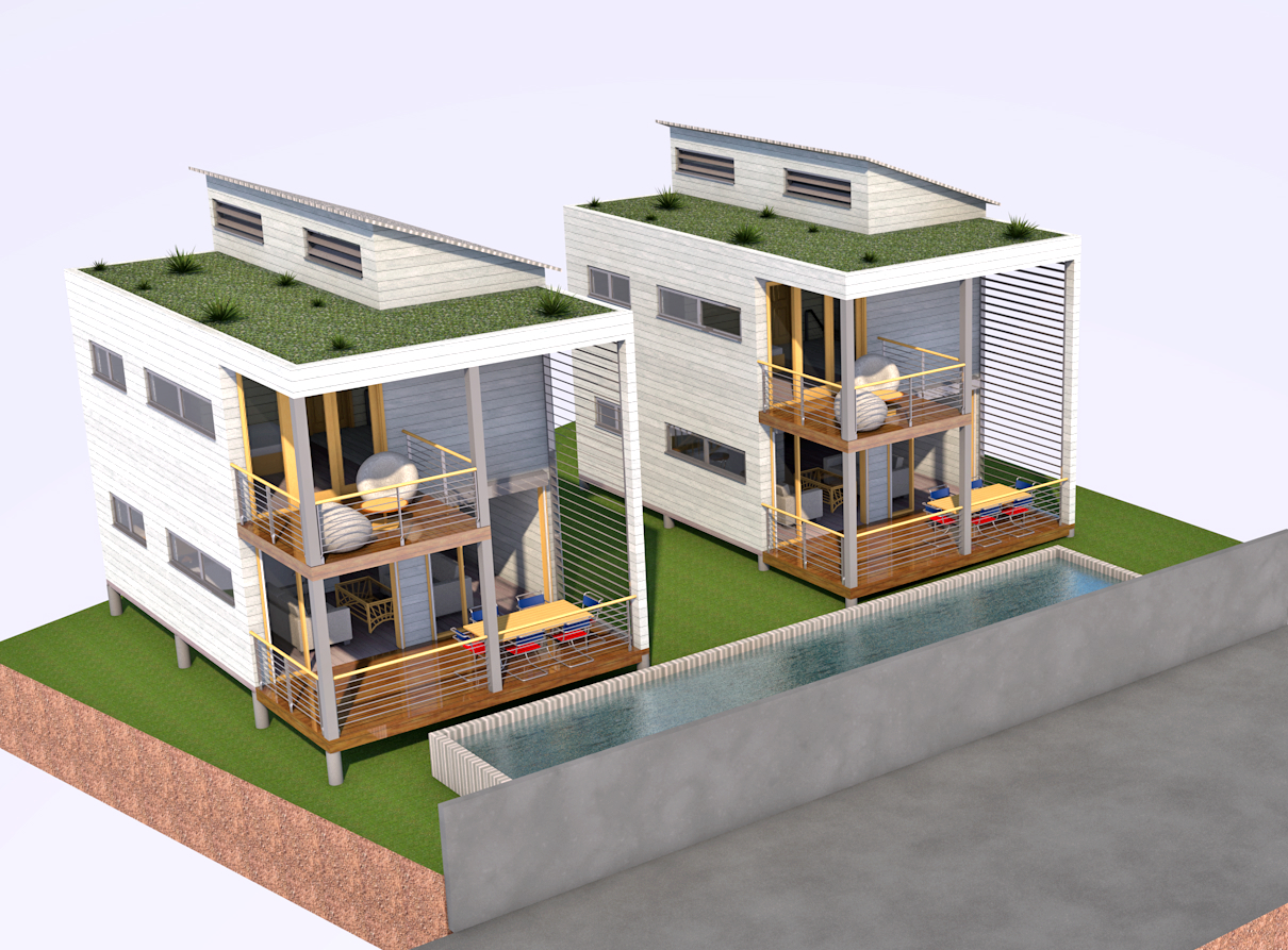 Maisons container a mn architecture guadeloupe for Plan amenagement container habitable